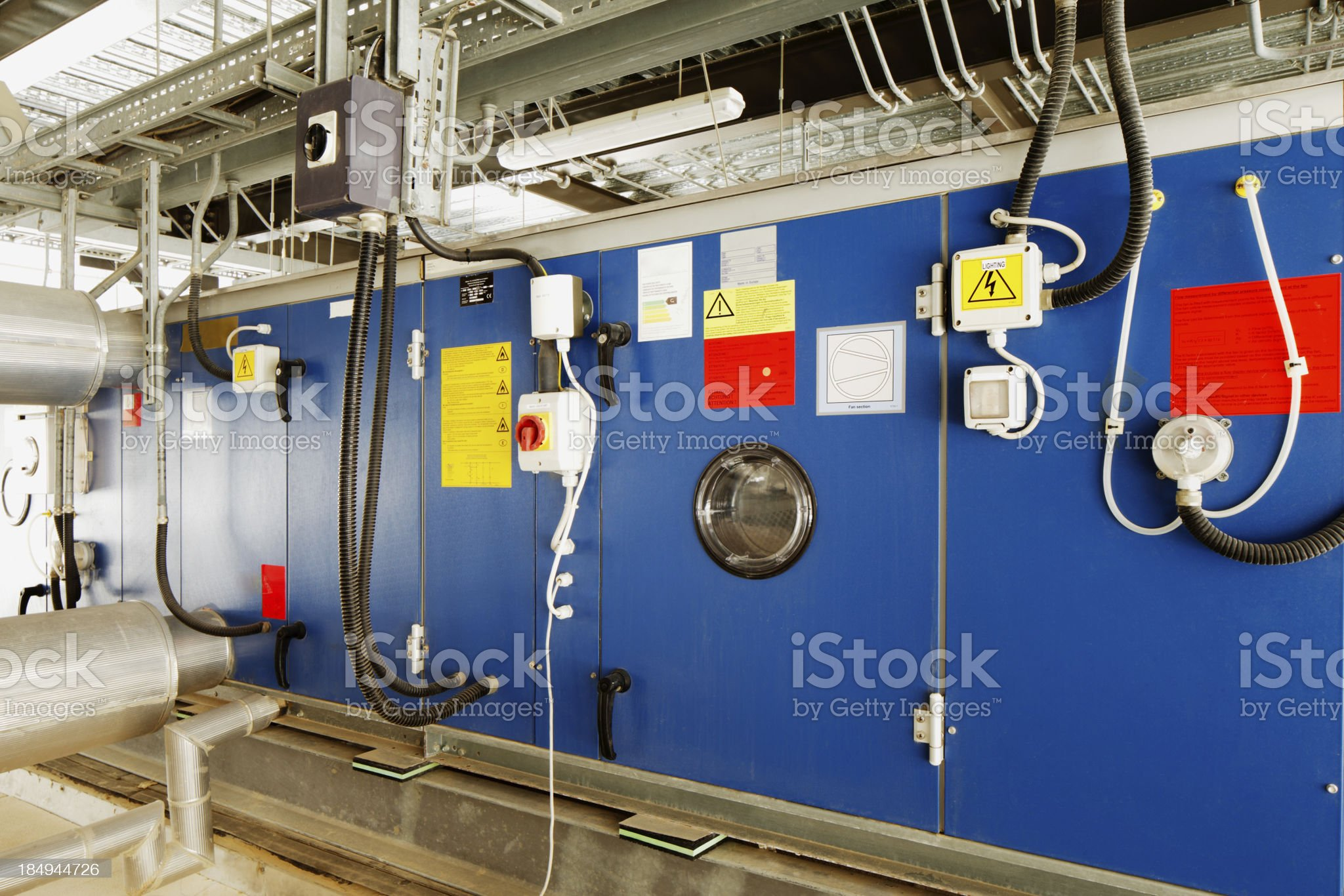 Industrial installation for converting solar energy into electrical royalty-free stock photo