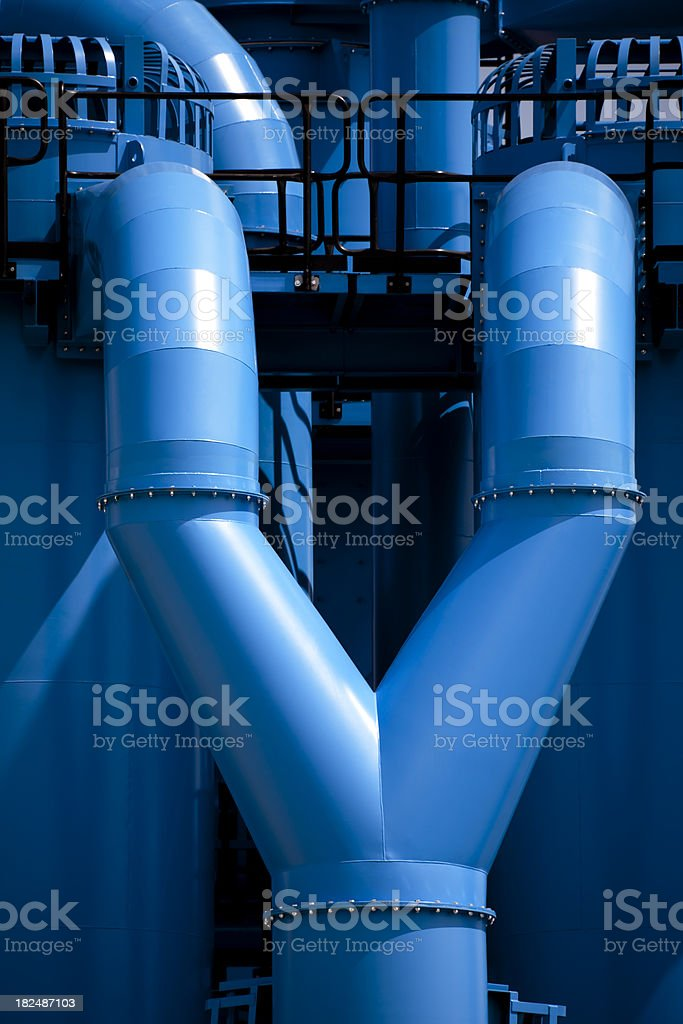 Industrial Installations royalty-free stock photo