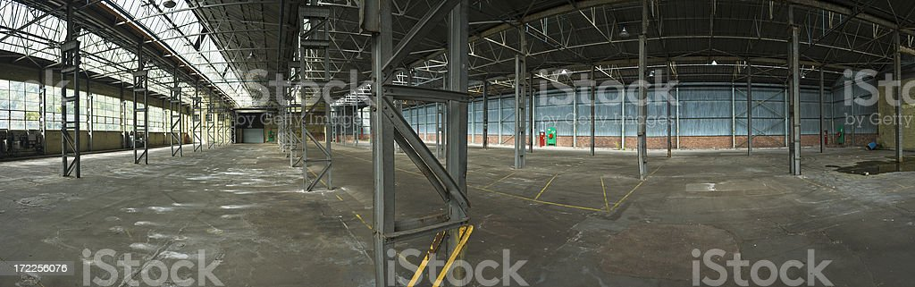 Industrial interior panorama royalty-free stock photo