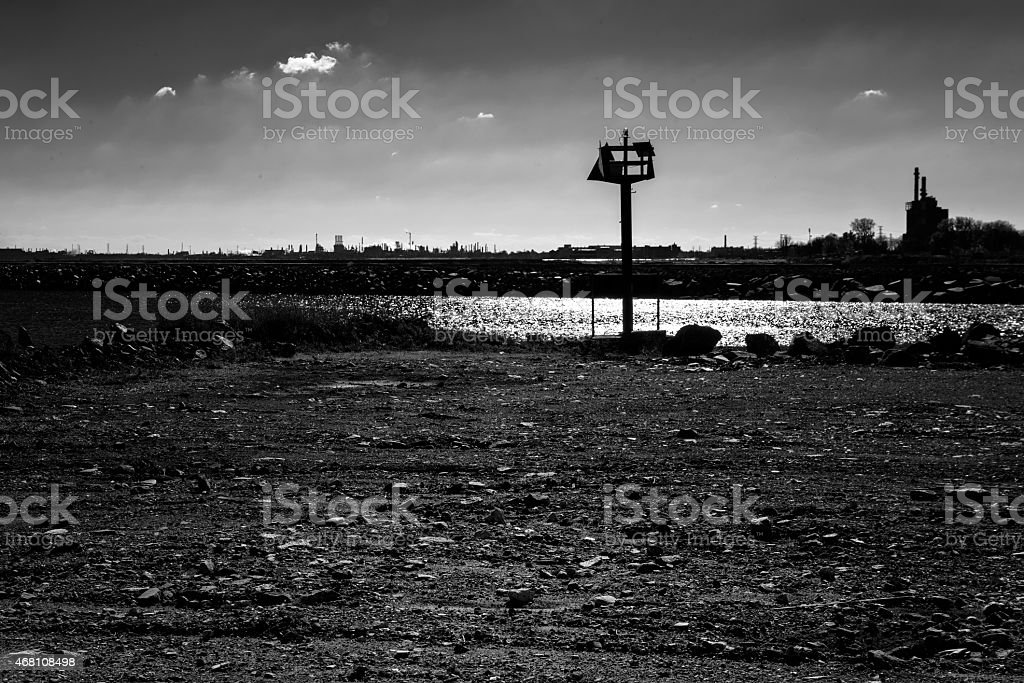 Industrial landscape, Far South Side of Chicago stock photo