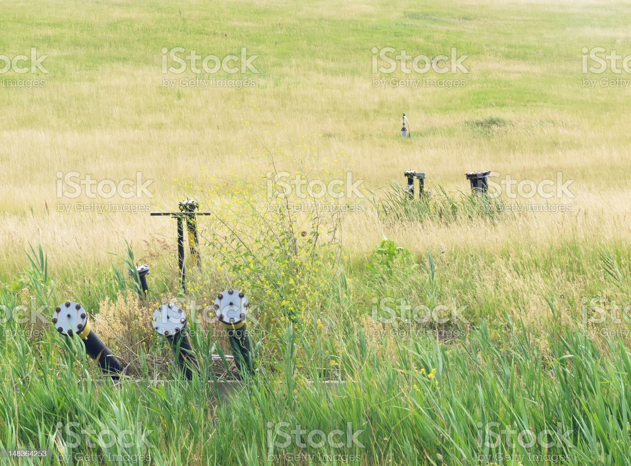 Industrial landscape in northern Illinois royalty-free stock photo