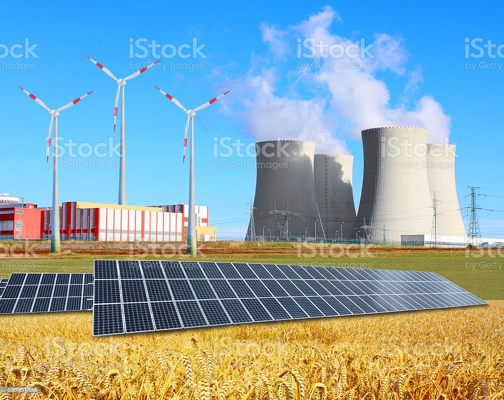 Industrial landscape. stock photo