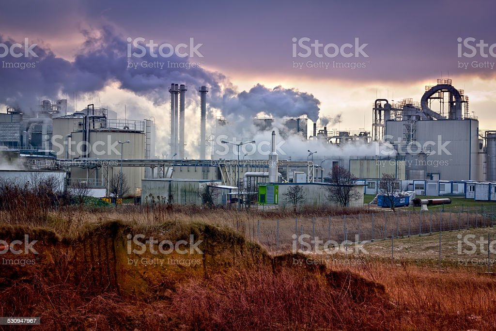 Industrial landscape, Poland stock photo