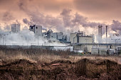 Industrial landscape-chemical plant