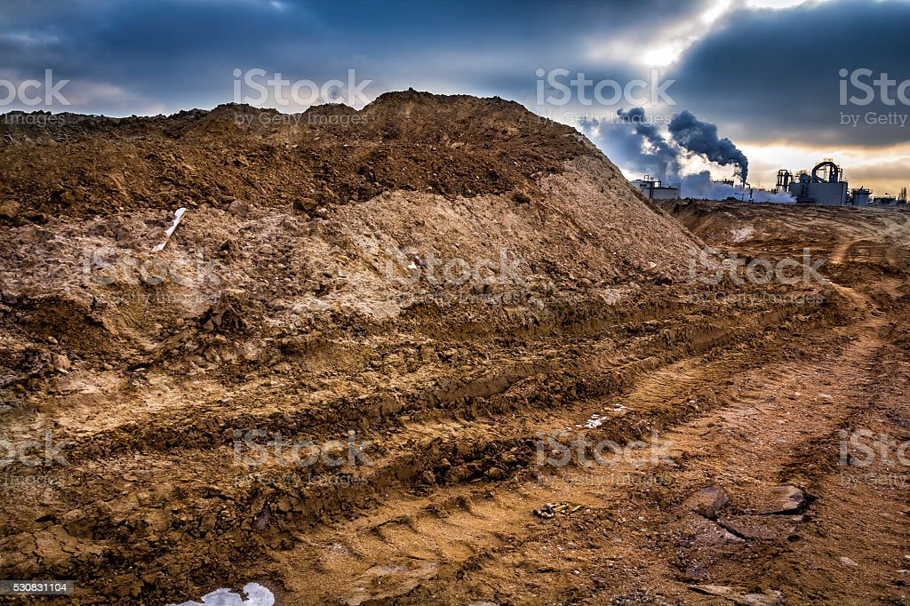 Industrial landscape-chemical plant stock photo