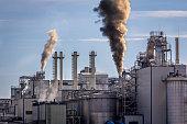 Industrial landscape-chemical plant