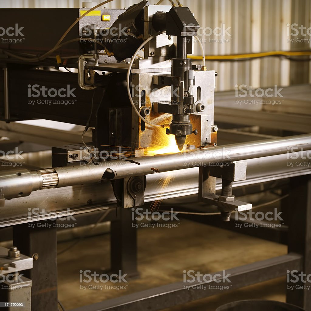 Industrial Laser Etching Machine stock photo
