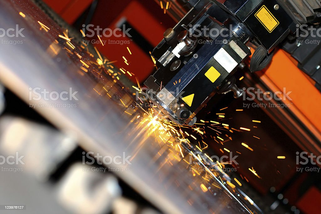 Industrial laser royalty-free stock photo