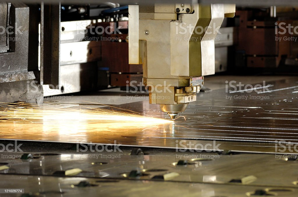 Industrial laser tool stock photo