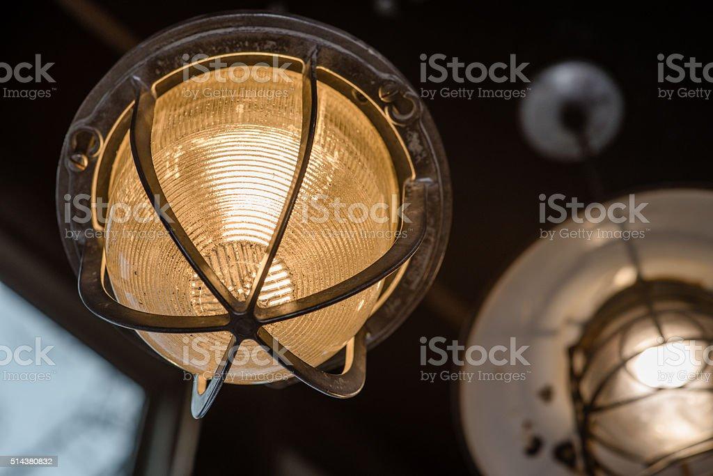 Industrial Light Fixture stock photo