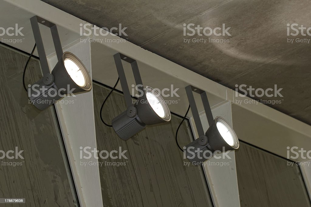 industrial lights stock photo