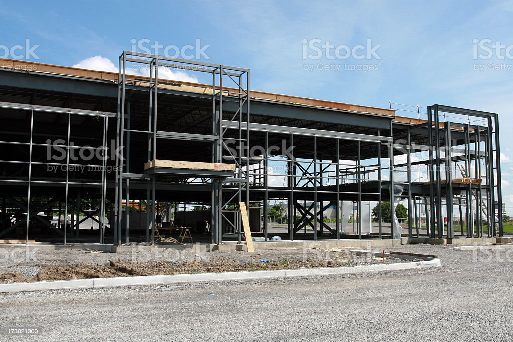 Industrial Lofts or Commercial Buidling Under Construction royalty-free stock photo