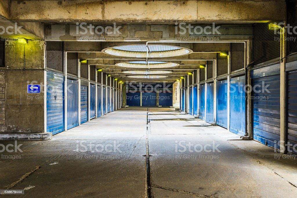 Industrial Look Pedestrian Underpass stock photo