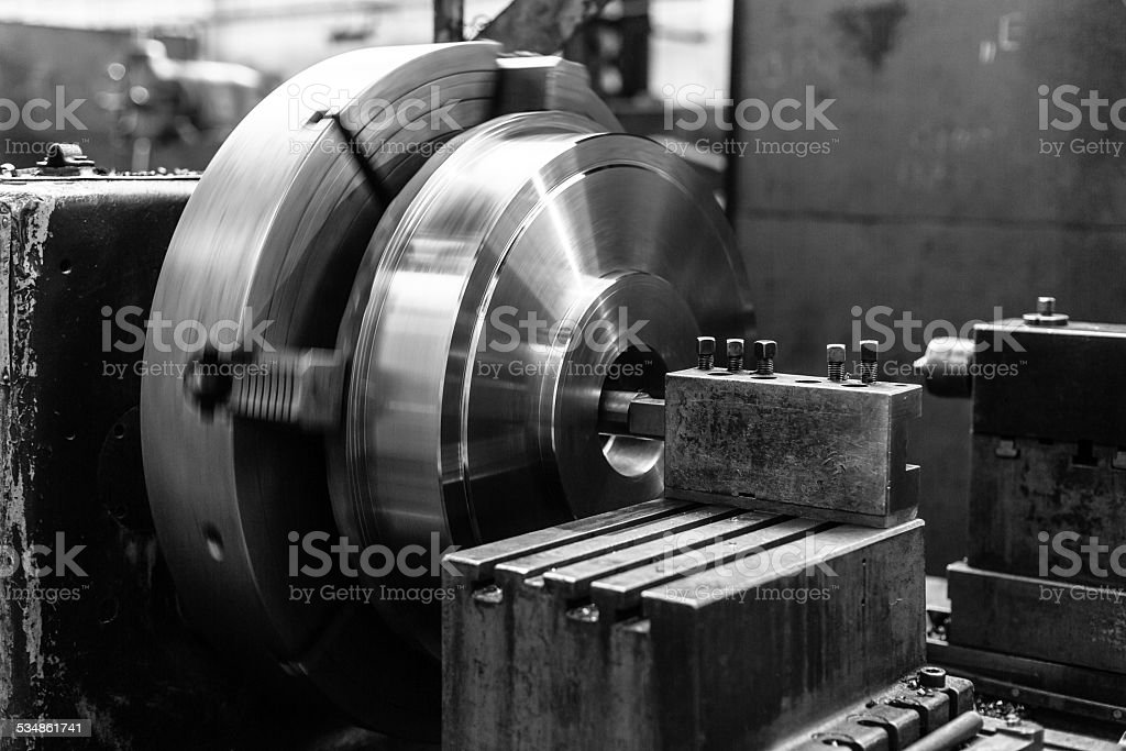Industrial machine  in the factory stock photo