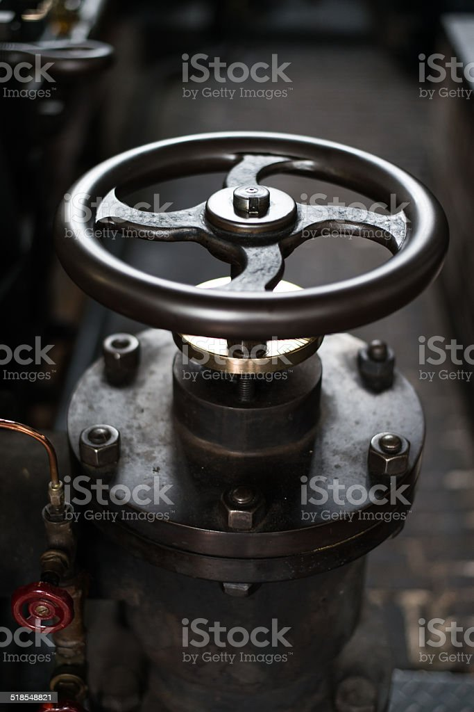 Industrial Machine Tools , Close Up, Handle Bar stock photo