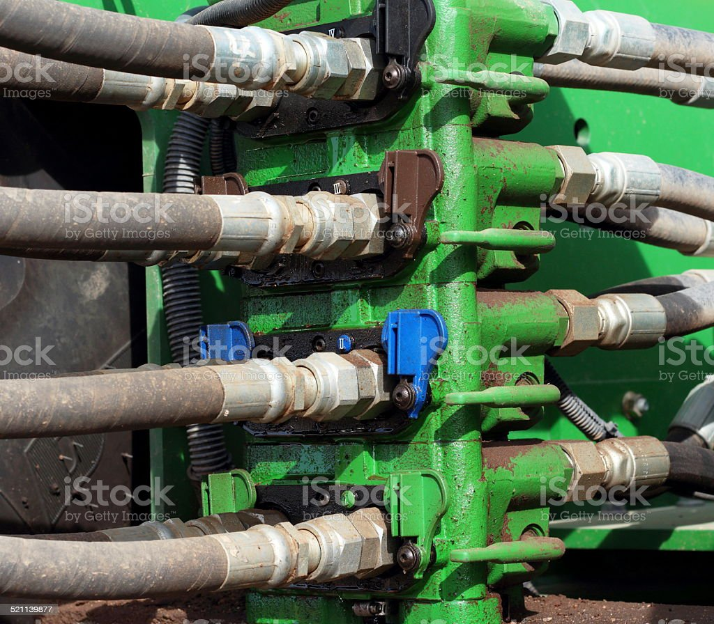 Industrial Machinery Hoses stock photo