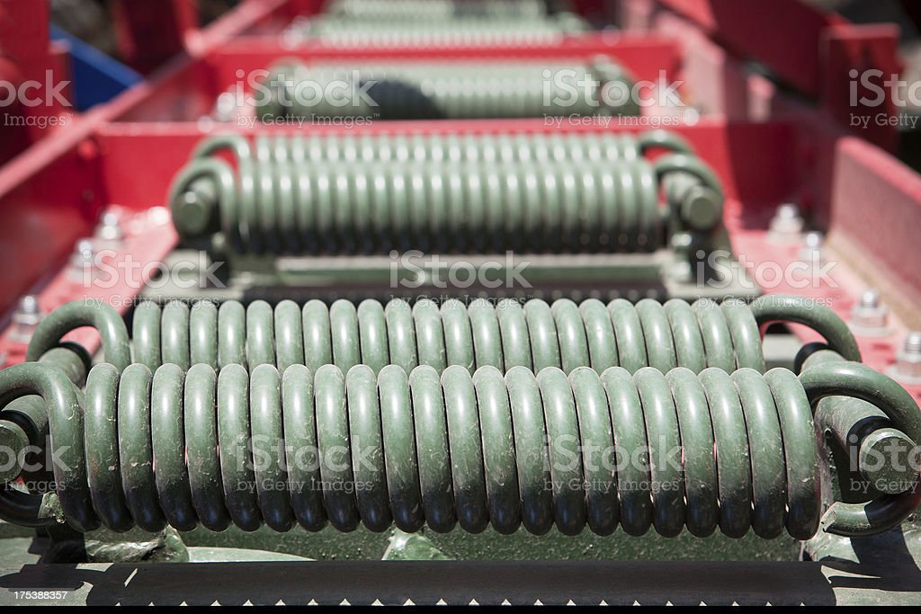 industrial machinery springs royalty-free stock photo