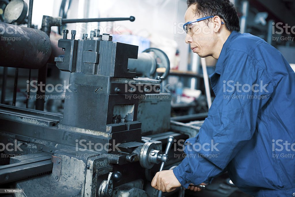 industrial machinist royalty-free stock photo