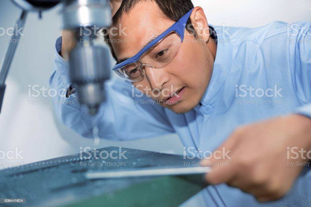 Industrial machinist stock photo
