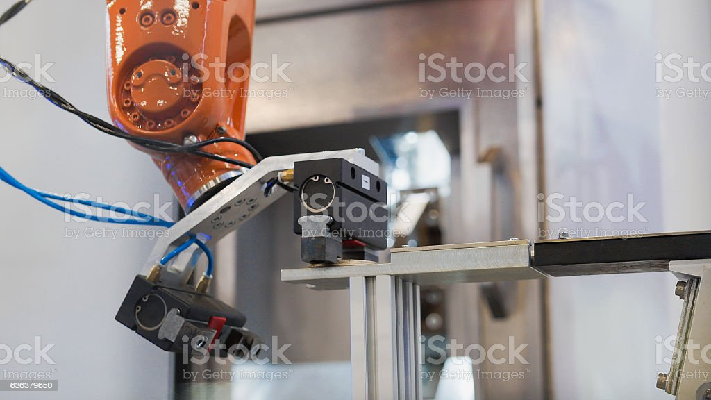 Industrial manufacture factory - robotic hand machine tool stock photo