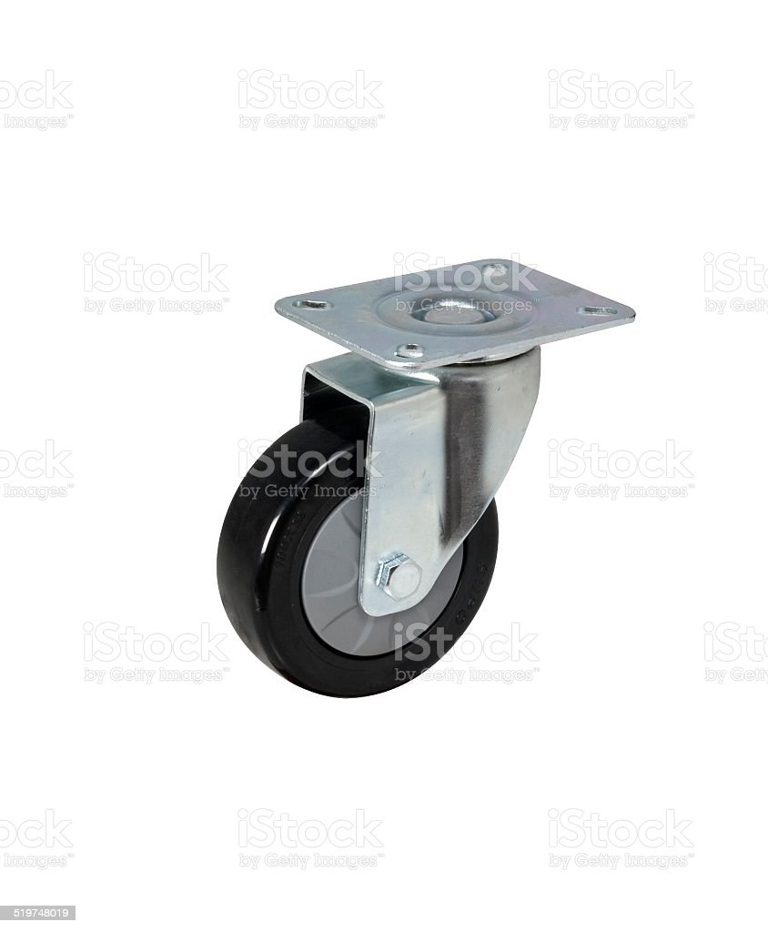 Industrial metal and Caster steel wheels stock photo