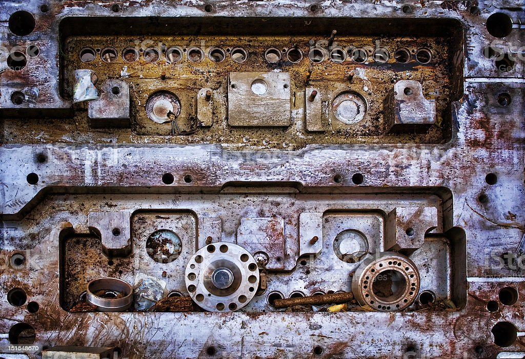 Industrial metal background     (© Lobke Peers) royalty-free stock photo