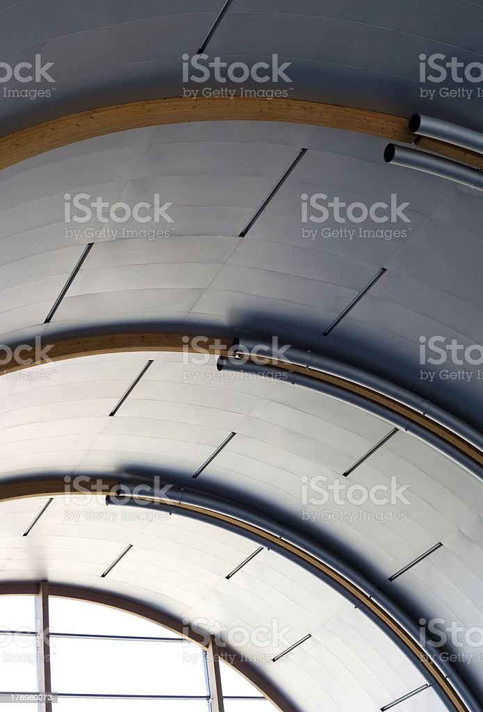 Industrial metal ceiling, urban interior royalty-free stock photo