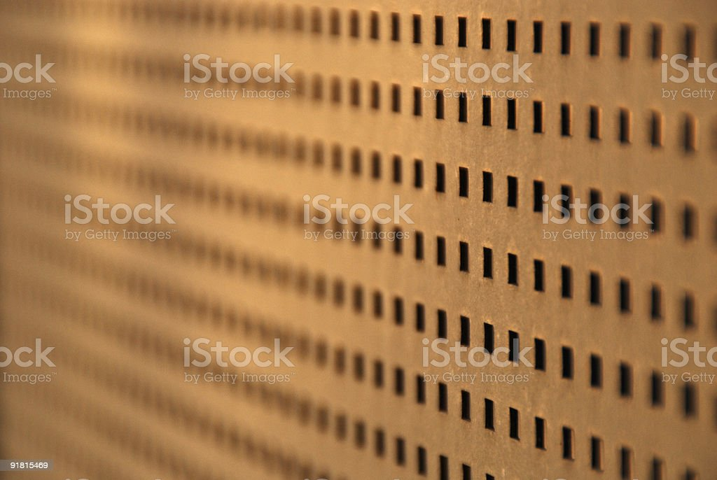Industrial Metal Grid Pattern Background with Abstract Repetition royalty-free stock photo