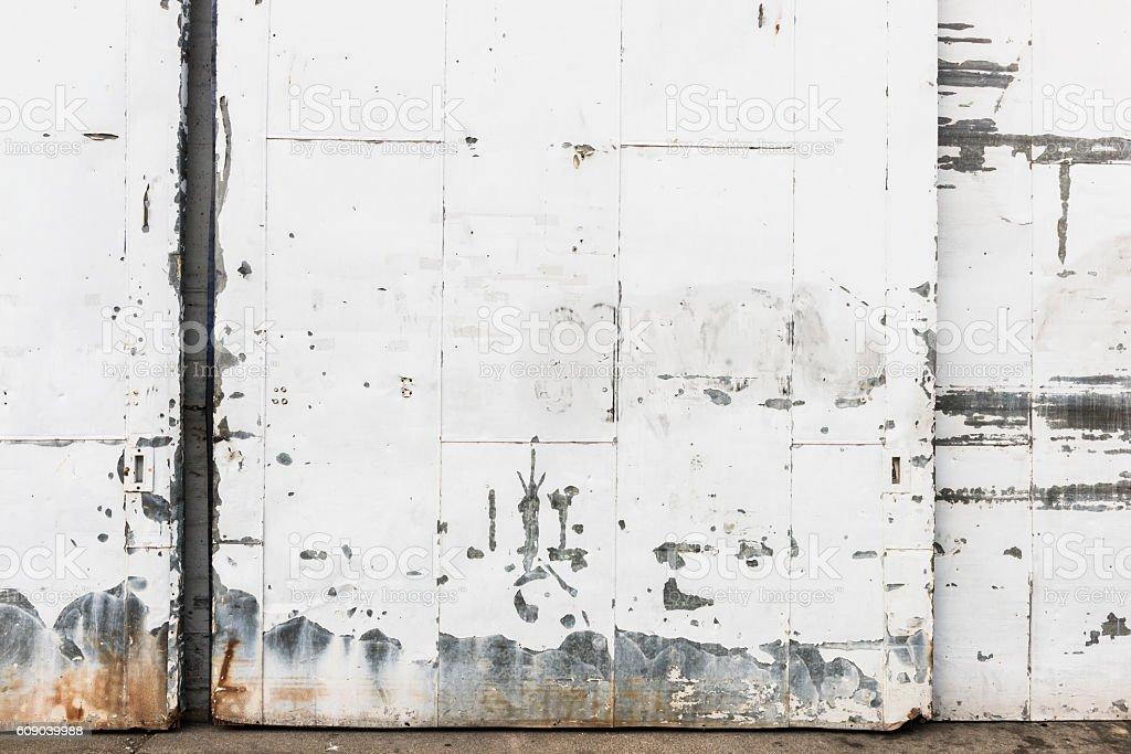Industrial Metal Warehouse Wall Door Exterior Texture Background Vancouver stock photo