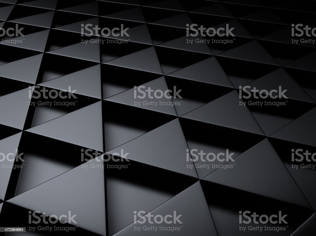 Industrial metallic background with triangles stock photo