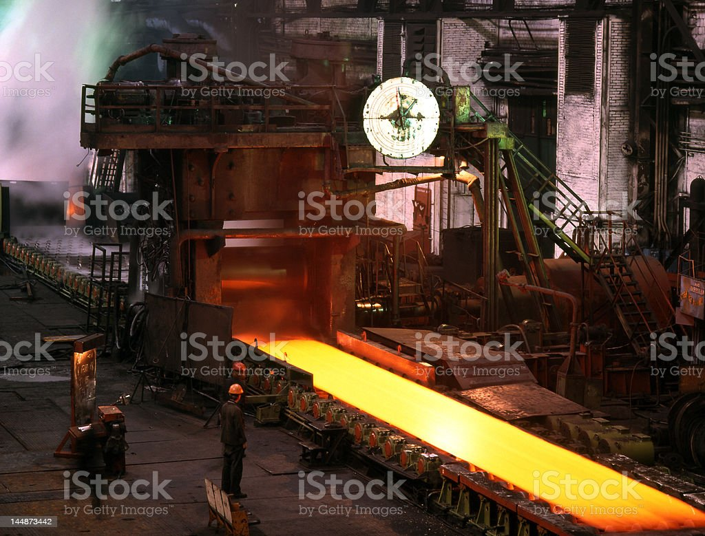 Industrial metallurgy royalty-free stock photo