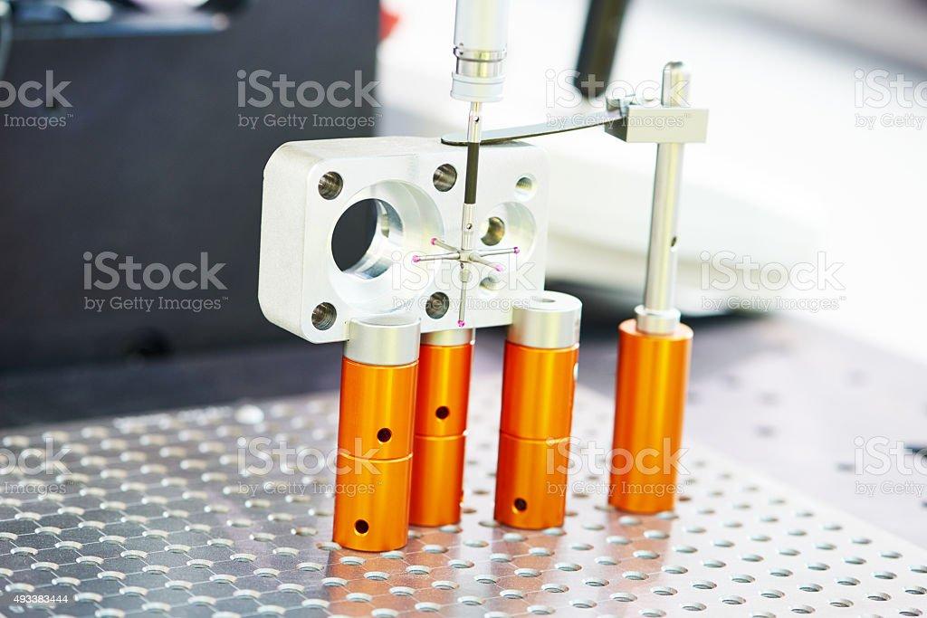 Industrial Metrology tool work stock photo