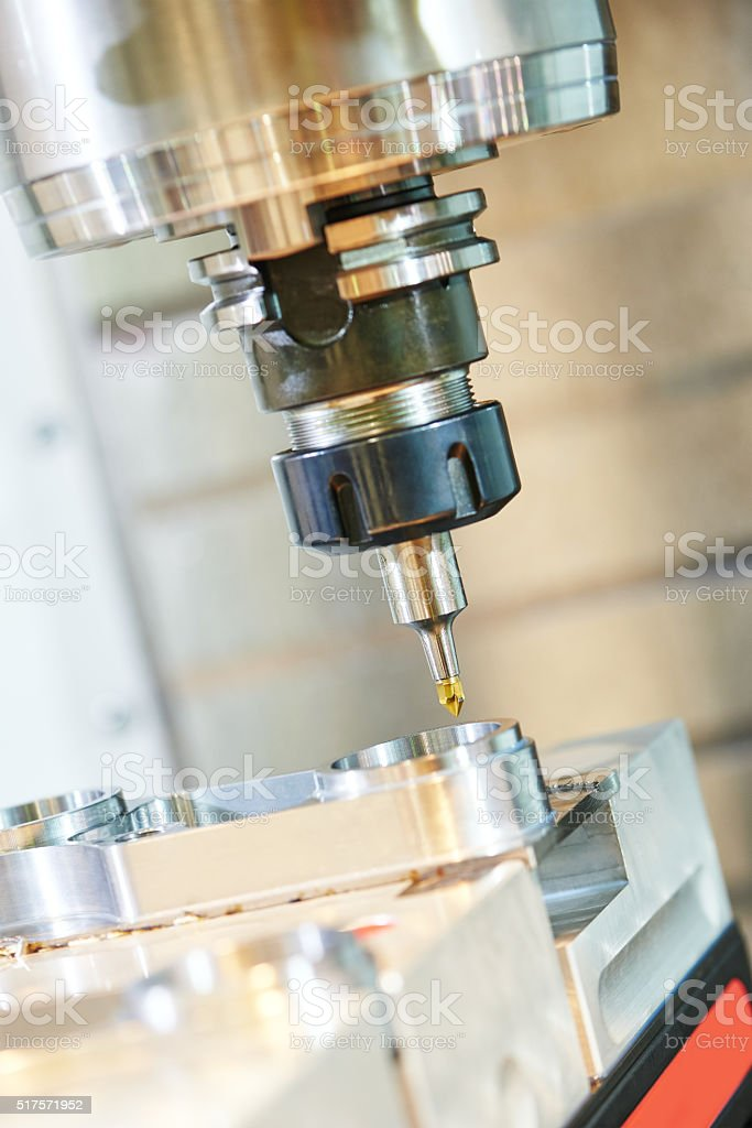 industrial milling machine tool with mill stock photo