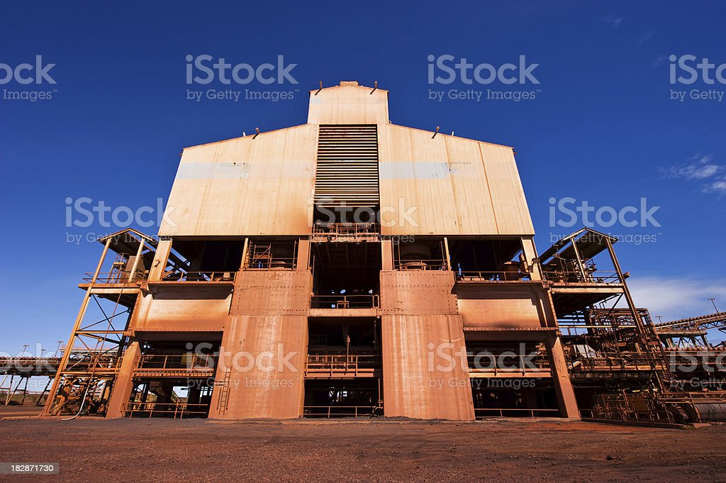 industrial mining building stock photo