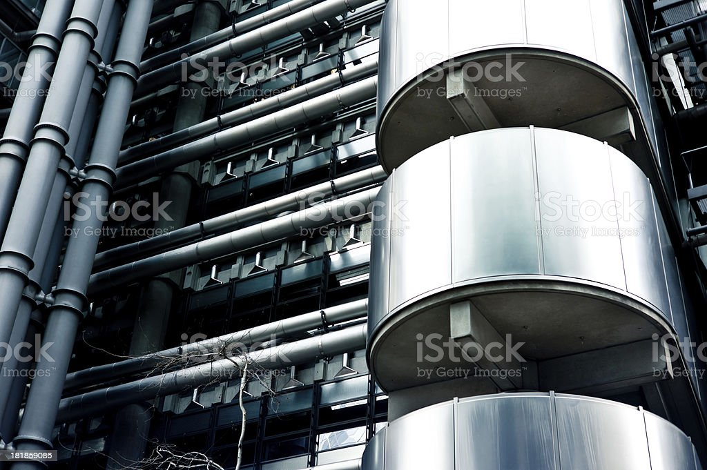 Industrial Modern Metallic Building Facade royalty-free stock photo