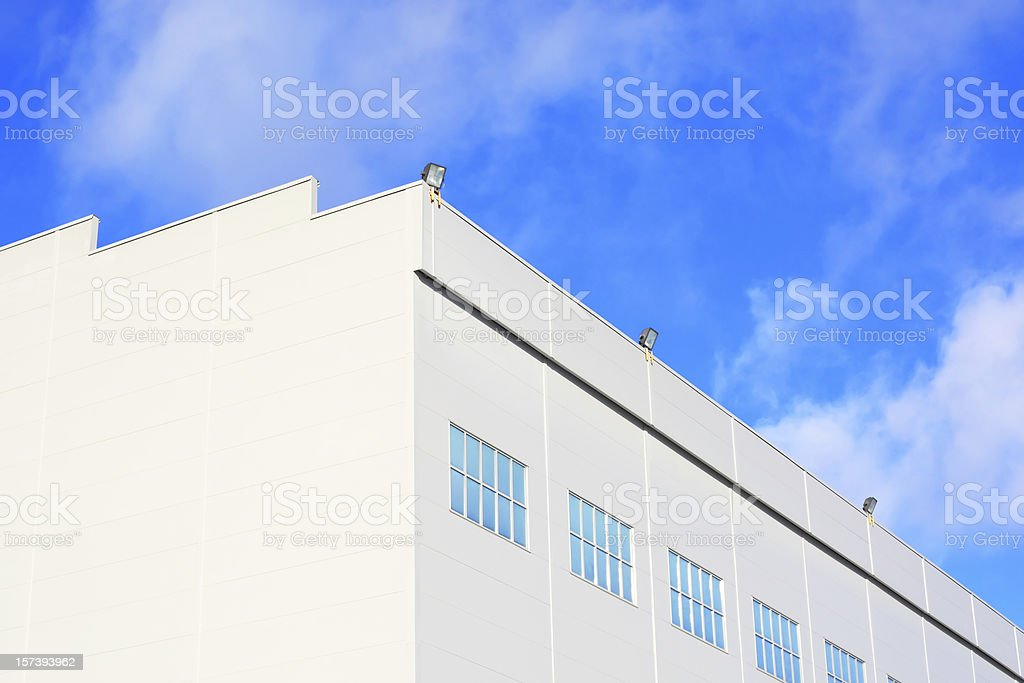 Industrial modern warehouse stock photo