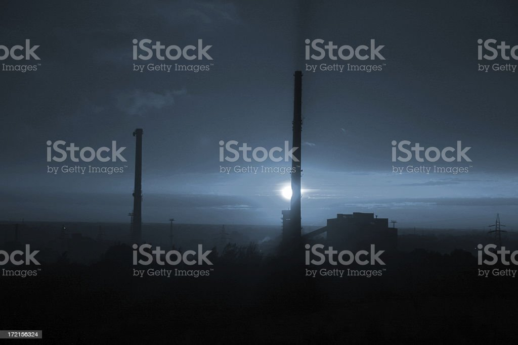 Industrial Night Shadows royalty-free stock photo