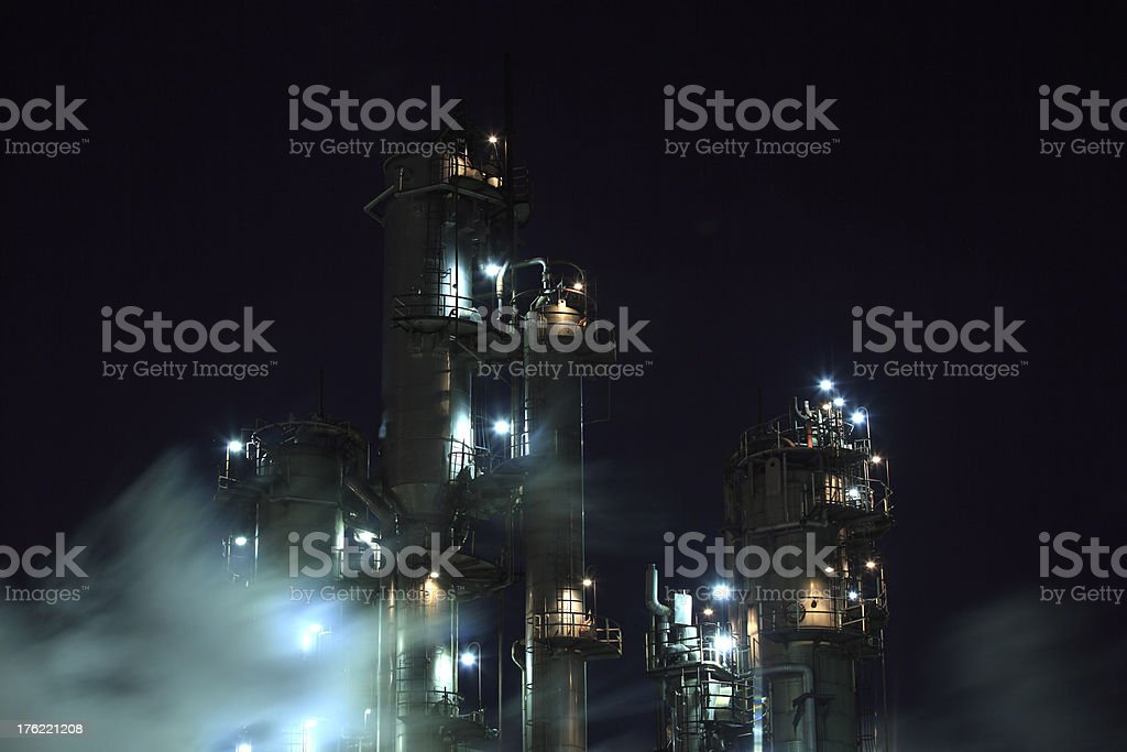 industrial night view royalty-free stock photo