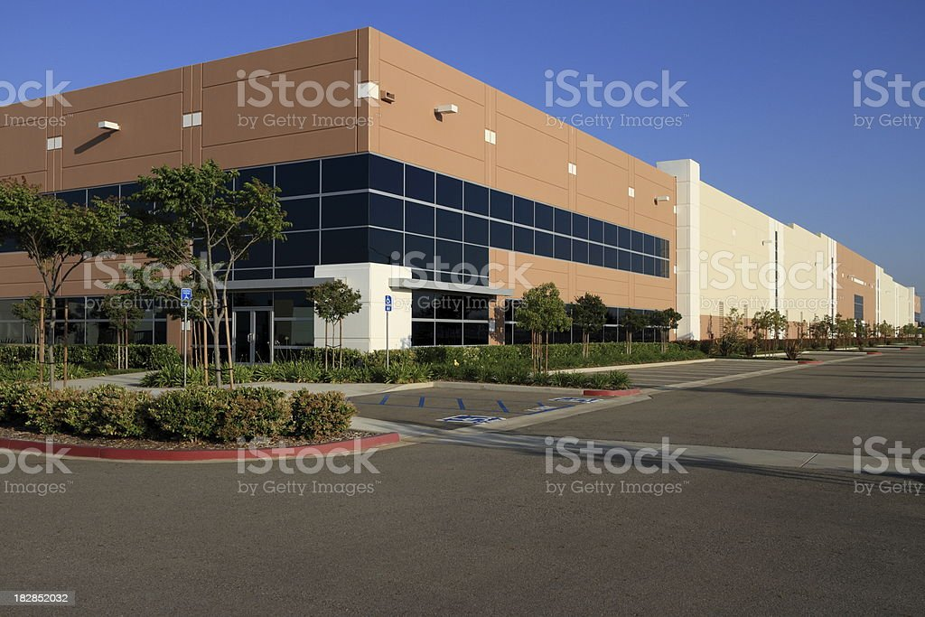 Industrial Office Building at Sunset royalty-free stock photo