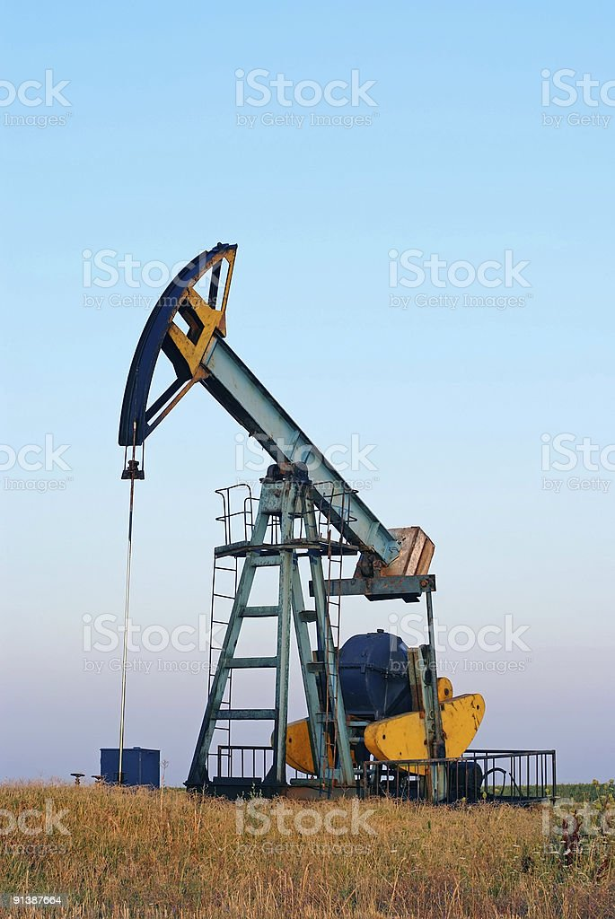 Industrial oil pump royalty-free stock photo