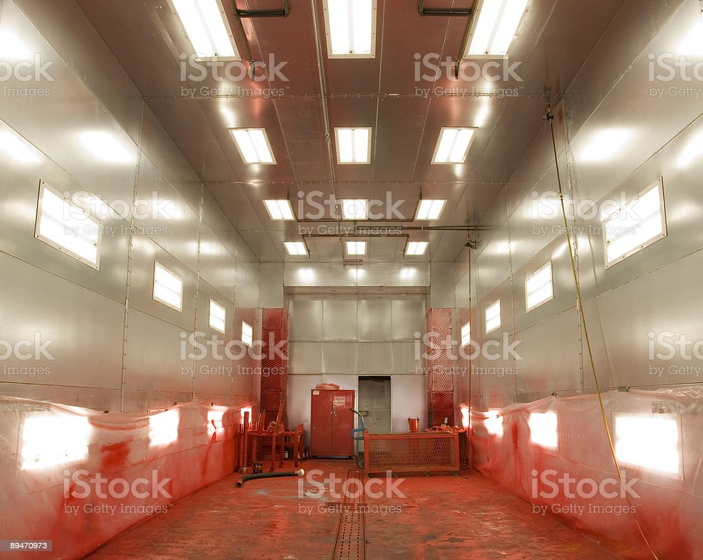 Industrial paint bay royalty-free stock photo