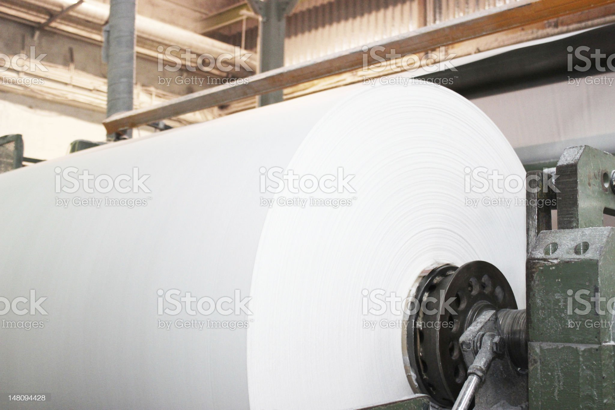 industrial paper roll royalty-free stock photo