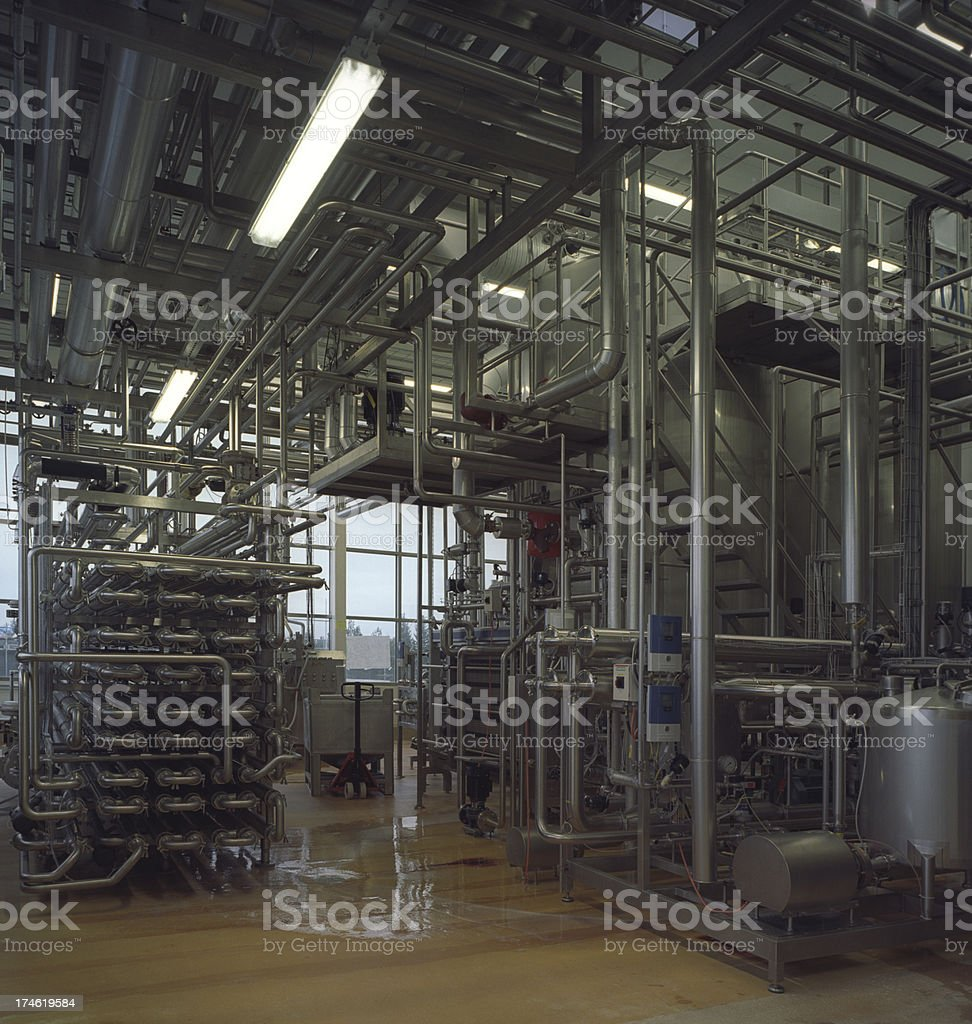 Industrial pasteurization royalty-free stock photo
