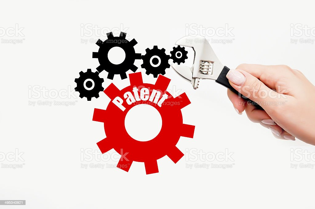 Industrial patent stock photo