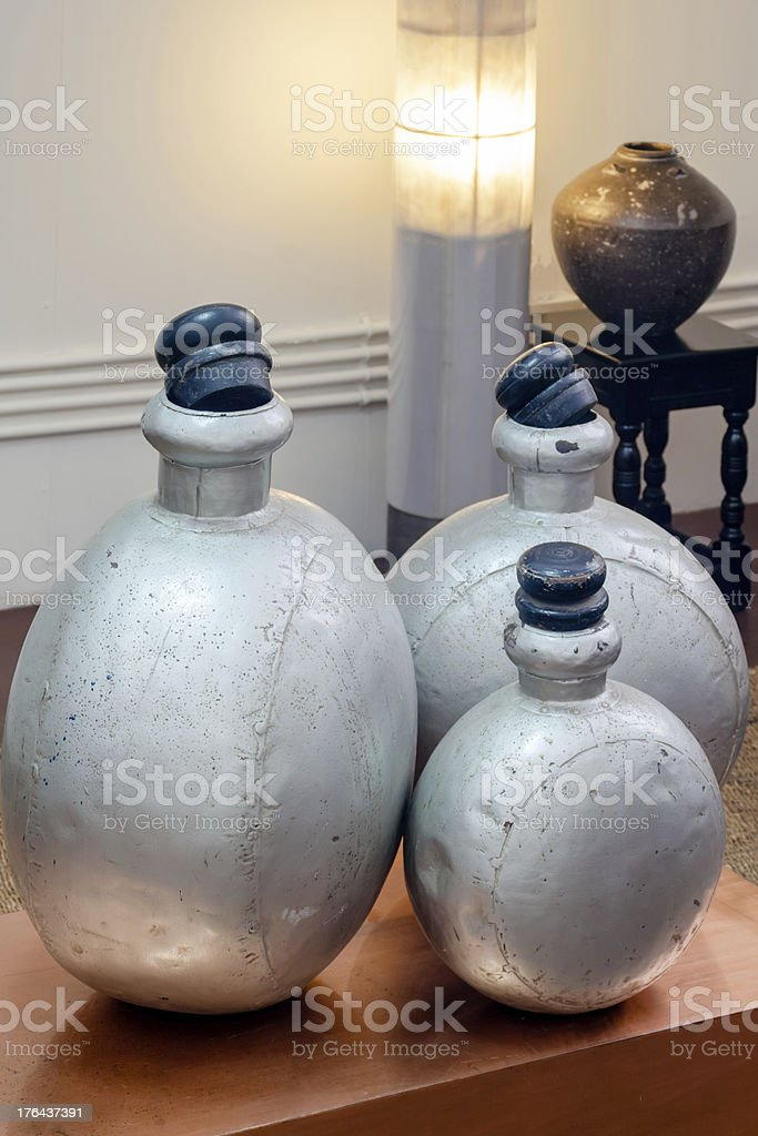 Industrial perfume package feature in a waiting room royalty-free stock photo