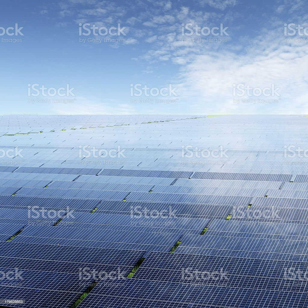 Industrial photovoltaic installation royalty-free stock photo