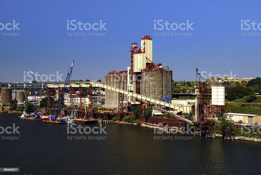 Industrial Pier in Portland Oregon royalty-free stock photo
