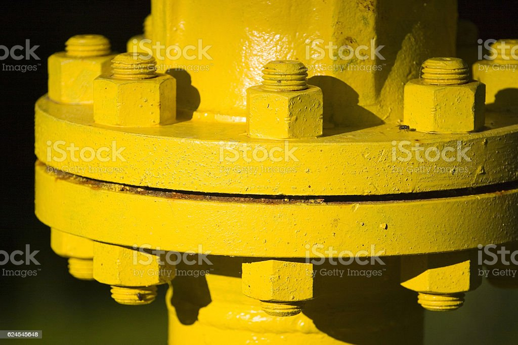 Industrial pipe joint stock photo