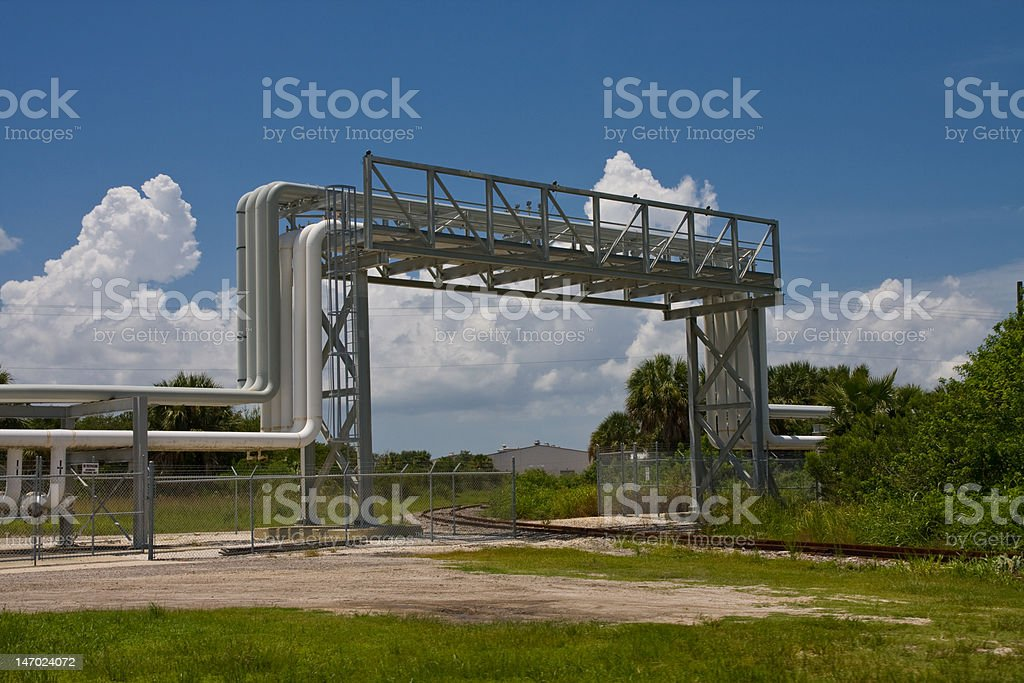 Industrial Pipe Overpass royalty-free stock photo