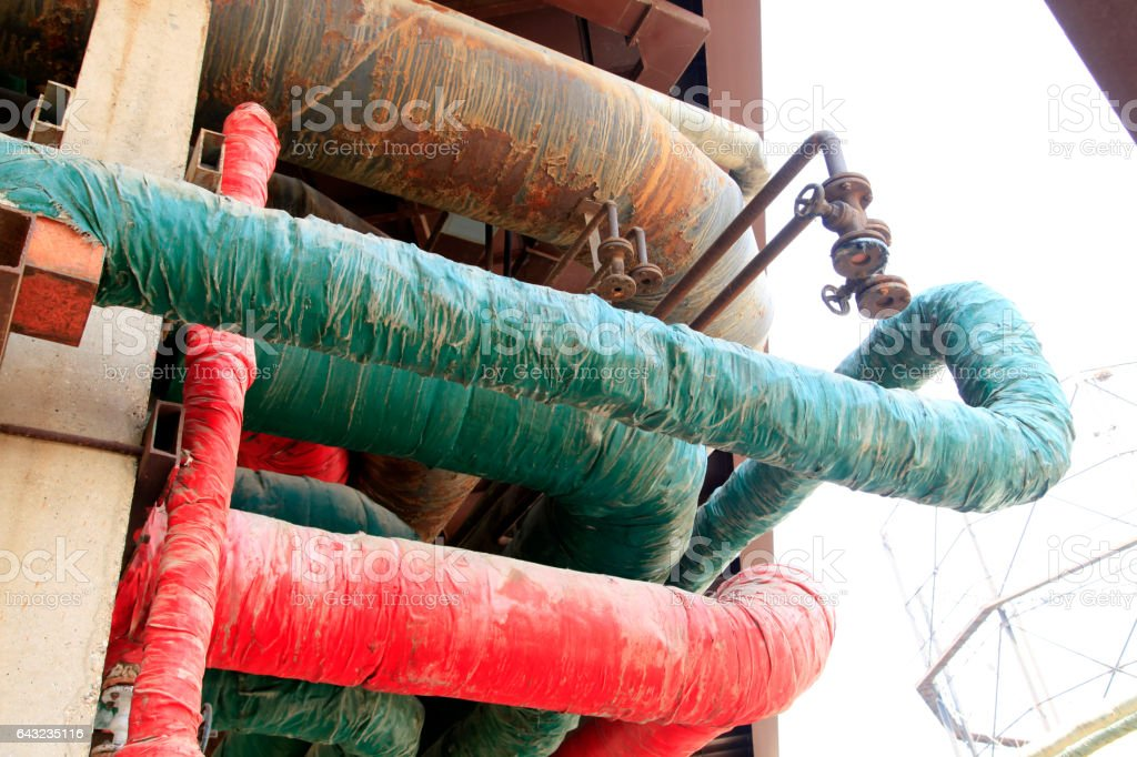 Industrial pipe stock photo